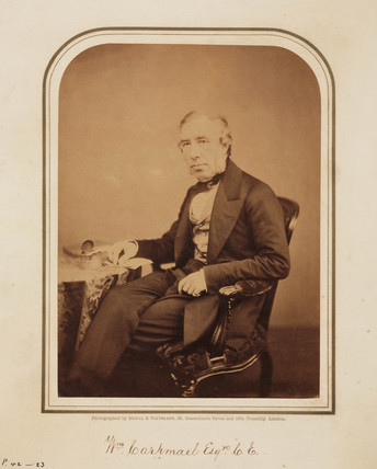 William Carpmael, patent agent, 1854-1866.