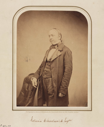 Sir Edwin Chadwick, English physician and social reformer, 1854-1866.