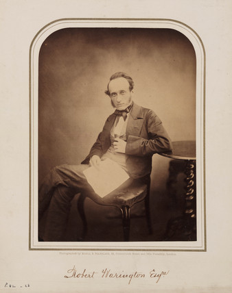 Robert Warington, British chemist, 1854-1866.