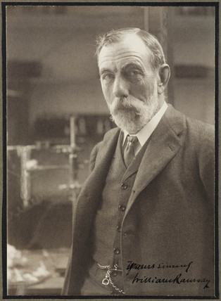 Sir William Ramsay, Scottish chemist, c 1910.