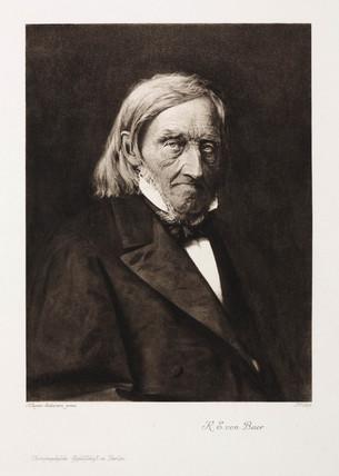 Karl Ernst von Baer, Estonian embryologist, c 1860s.
