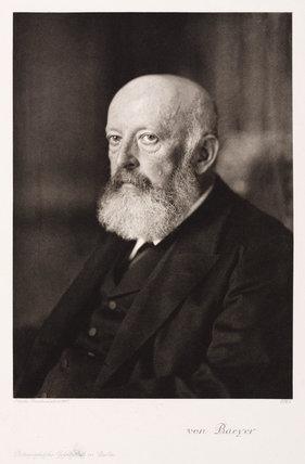 Adolf von Baeyer, German organic chemist, 1907.