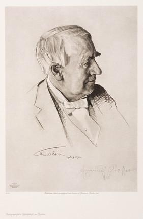 Thomas Alva Edison, American inventor,  c 1910.