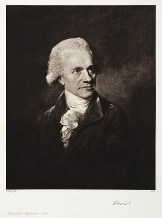 Sir William Herschel, German-British astronomer, c 1790s.
