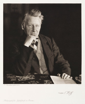 Jacobus Henricus van't Hoff, Dutch theoretical chemist, 1904.