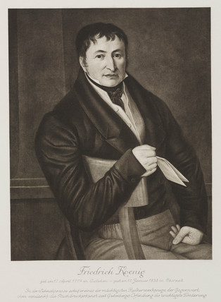 Friedrich Koenig, German printing pioneer, early 19th century.