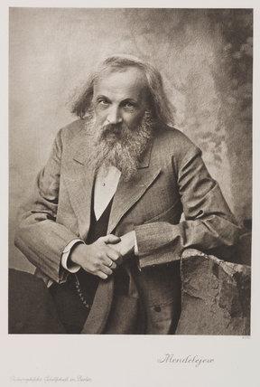 Dmitry Ivanovich Mendeleyev, Rusian chemist, c 1905.