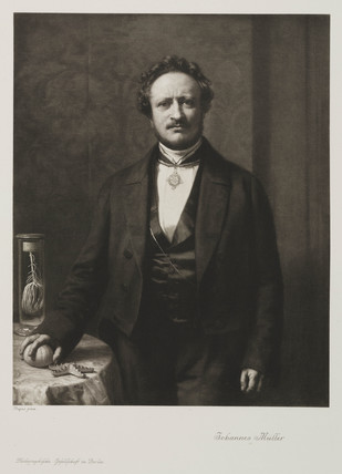 Johannes Peter Muller, German physiologist, c 1850.