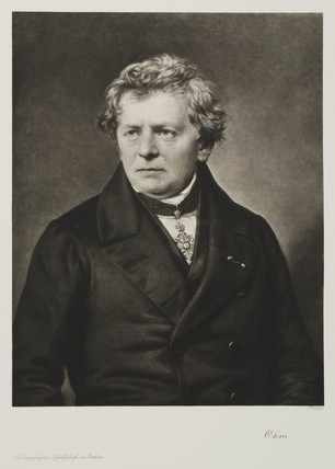 Georg Simon Ohm, German physicist, c 1840.