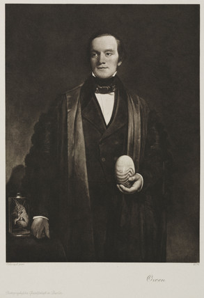 Sir Richard Owen, English naturalist and paleontologist, c 1845.