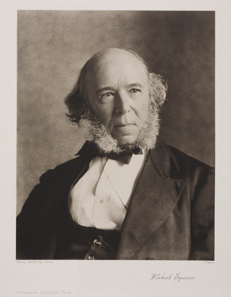 Herbert Spencer, English social philosopher, 1870.