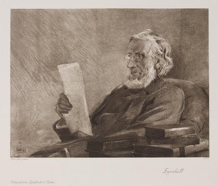 John Tyndall, Irish physicist, c 1890s .