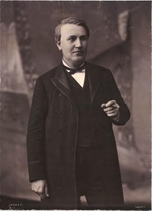 Thomas Alva Edison, American inventor, c 1890.