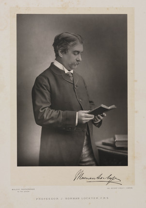 Sir Norman Lockyer, English astronomer, c 1880s.