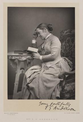 Elizabeth Garret Anderson, doctor, c 1880s.