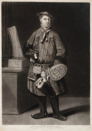 Carl von Linne, Swedish physician and naturalist, 1737.