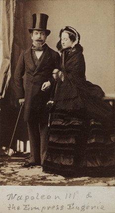 Napoleon III and the Empres Eugenie of France, c 1865.