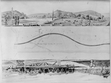 'View North of the Line', 1848.