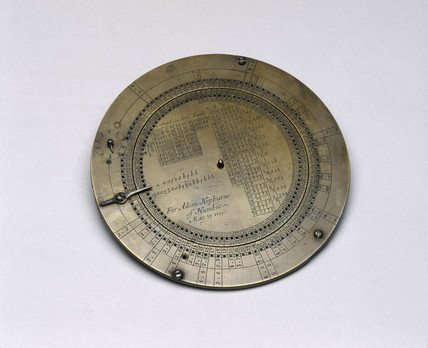 Rotula, or circular calculating scale, 1699.