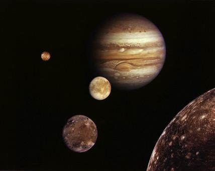Jupiter system montage, 1979.