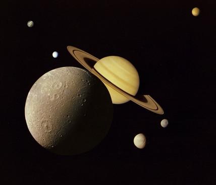 Saturn system montage, 1980.
