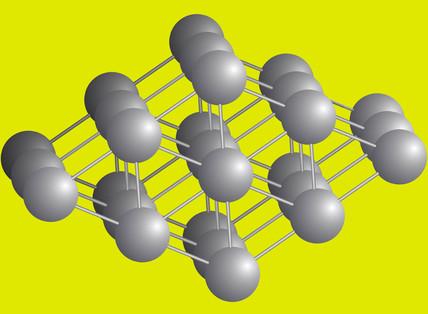 Illustration of a titanium molecule, 2002.