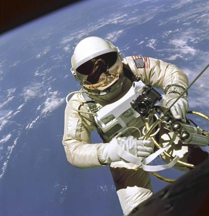 Ed White First American Spacewalker, 1965.
