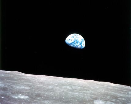 Moon Set over Earth, 1995.
