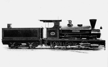 Narrow-gauge Barclay AB17 locomotive, early 20th century.