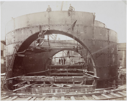 Construction of the Rotherhithe Tunnel, London, 1905.