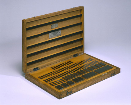 Set of Johanson gauge blocks in an oak case, c 1900.