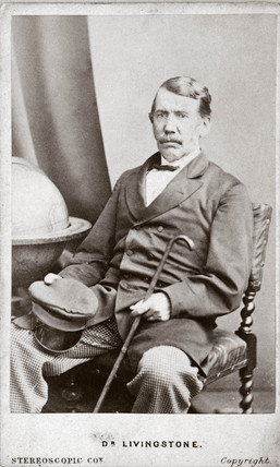 David Livingstone,  misionary and traveller, c 1860s.