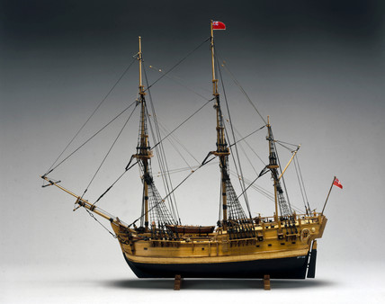 Model of Captain Cook's 'Endeavour', c 1770-1800.