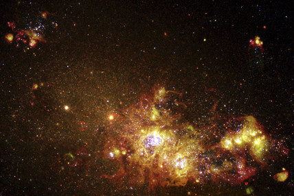 Fireworks of star formation light up a galaxy , 1 June 2000.