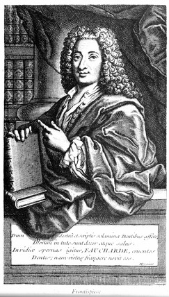Pierre Fauchard, pioneering French dentist, 1728.