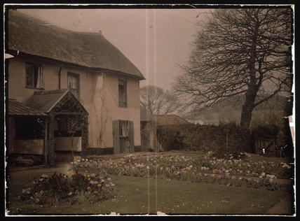 Autochrome of Green Cottage, Starcros, Devon, c 1913.