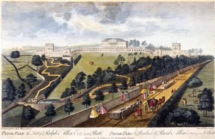 'Prior Park, the Seat of Ralph Allen, Esq, near Bath', Somerset, 1750.