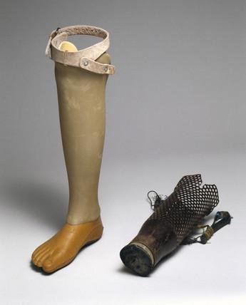 Artificial legs, Cambodia, 1990-2002.