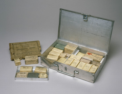 First aid kit used by Rear-Admiral R E Byrd, 1928-1930.