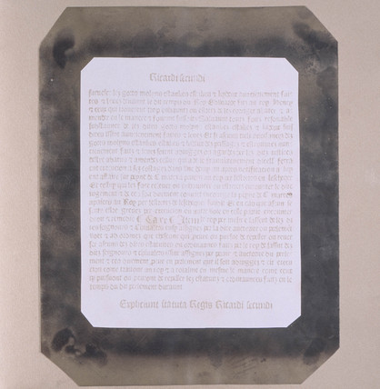 Facsimilie of an old printed page, c 1844.