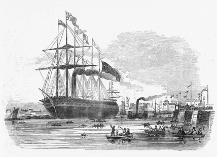 s 'Great Britain' leaving Blackwall, London, 1845.