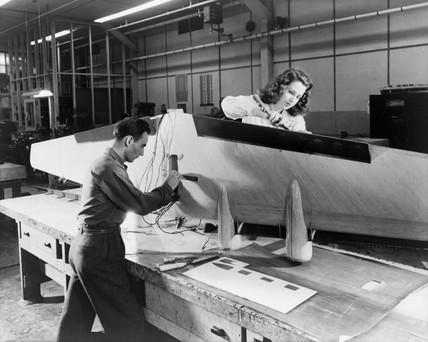 Flying boat construction, Ohio, USA, 1944.