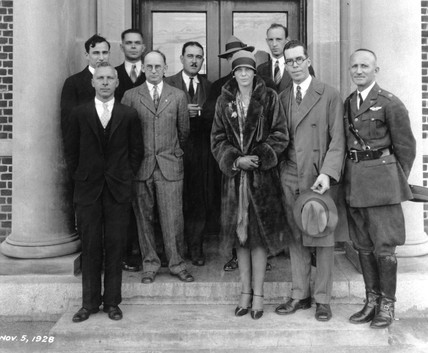 Amelia Earhart, US aviator, USA, 5 November 1928.