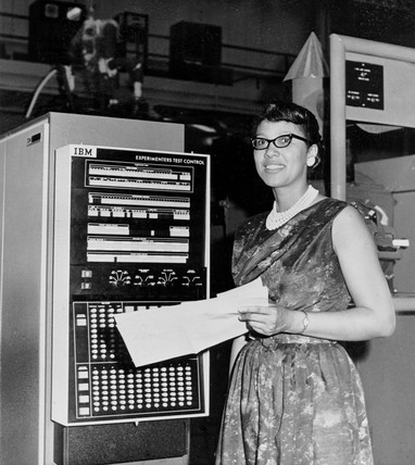 'Female Computer' with IBM X-4, 24 March 1952.