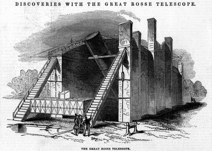 'Discoveries with the Great Rose telescope', 1845.