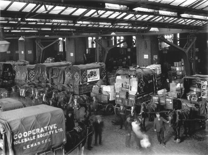 Loading bay at Bishopsgate goods yard, London, 31 May 1925.