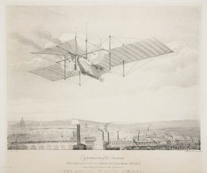 Henson's proposed flying machine, the 'Ariel', 1842.