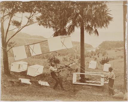 Hargrave box kites, c 1895.