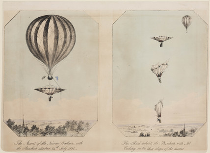 Cocking's parachute descent, 24 July 1837.