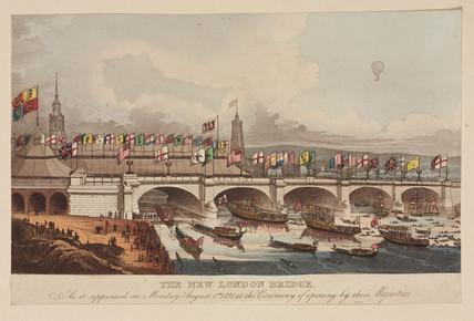 'The New London Bridge', 1 August 1831.